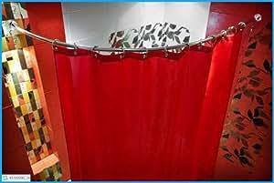 duschstange gebogen chrom 90 x 90 cm durchmesser 27 mm chrome k che haushalt. Black Bedroom Furniture Sets. Home Design Ideas