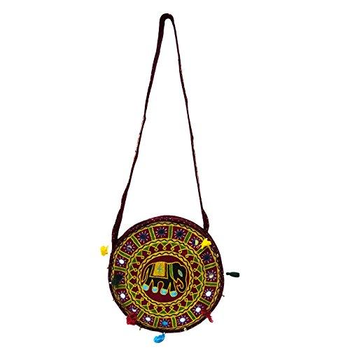 Hmong Grande Tote Bag Ricamata Trasportare La Borsa Sulle Spalle Delle Donne Nuova Borsa Indiana marrone-B