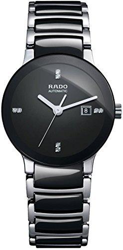Rado Damen-Centrix Keramik schwarz Diamant Zifferblatt Armbanduhr R30942702