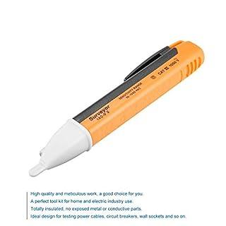 ToomLight 1PCS Electric Indicator 90-1000V Socket Wall AC Power Outlet Voltage Detector Sensor Tester Pen LED Light Voltage Warning Pen