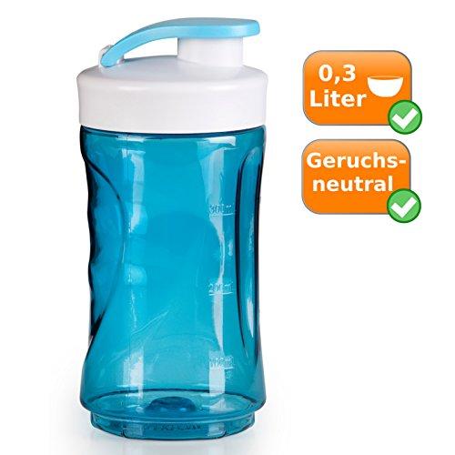 300ml botella, verschließbare Botella de repuesto para batidora 300ml, color azul