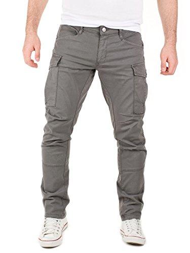 Yazubi cargo da uomo chino relaxed fit (ordinare una taglia più piccola), grigio (castlerock grey 0201r), w34/l32