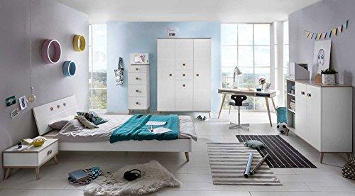 lifestyle4living Jugendzimmer, komplett, Set, Jungen, Mädchen, Jugendzimmermöbel, Kinderzimmer, Kinderzimmermöbel, Jugendmöbel, Kindermöbel, Kleiderschrank, Bett