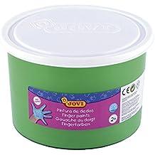 Jovi - Bote con pintura de dedos, 500 ml, color verde (56117)