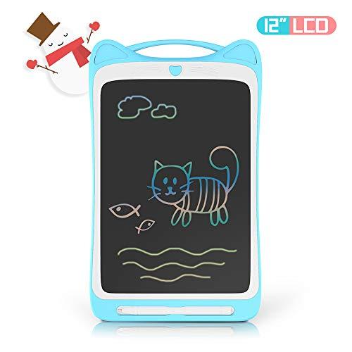 Richgv 12 Zoll LCD Writing Tablet Mini Schreibtafel Digital Ewriter Grafiktabletts Papierlos Doodle Board Drawing Board für Kinder (Blau)
