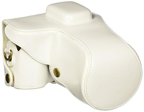 MegaGear Ever Ready Weiß Leder Kamera, Tasche für Samsung NX300 Smart Wi-Fi Digital Camera mit 18-55mm Objektiv und 20-50mm Objektiv Digital Kamera