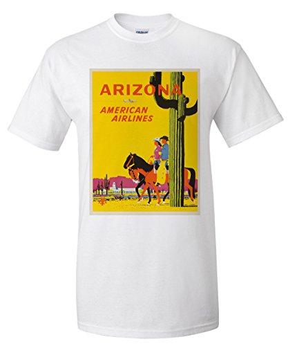 american-airlines-arizona-vintage-poster-artist-ludekun-usa-c-1955-premium-t-shirt