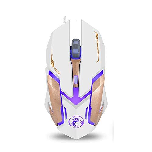 DZCP X6 kabelgebundene optische USB-Gaming-Maus, 6 Tasten, 4-farbige, atmungsaktive LED-Leuchten für Spiele und Büro, schwarz
