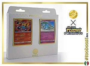 Moltres 38/214 Y Azumarill 136/214 - #tooboost X Sol E & Luna 8 Tuoni Perduti Box de 10 Cartas Pokémon Italiano + 1 Goodie Pokémon