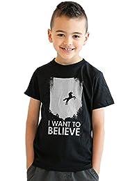 Crazy Dog TShirts - Youth I Want To Believe In Unicorns T Shirt Funny Magical Unicorn Tee For Kids - Camiseta Para Niños