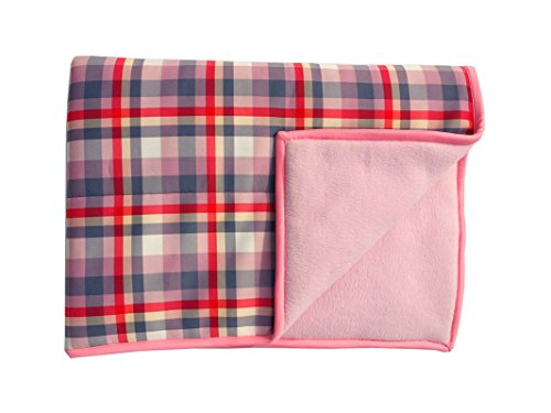 Wobbly Walk Checkered Fleece Blanket (Baby Pink)