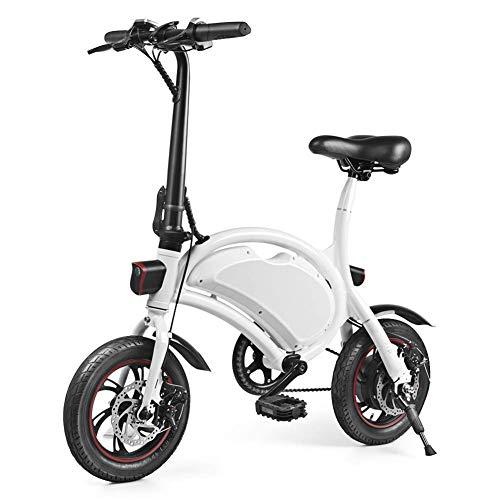 Windgoo Scooter eléctrico de 12 pulgadas y 36 V de bicicleta eléctrica plegable con batería de litio LG de 4,4 Ah, velocidad máxima de bicicleta de ciudad 30 km / h, frenos de disco