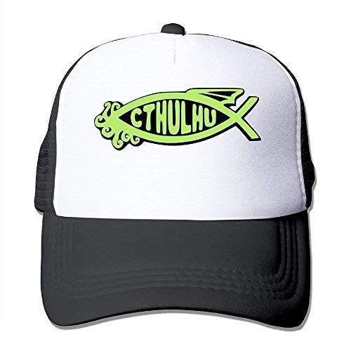 QIOOJ Cowboyhut Cthulhu Fish Snapback Caps Mesh Back Adjustable Hats -