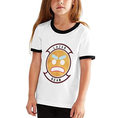 Jugend Mädchen Jungen Sommer T-Shirt Lazarbeam T Shirt Shirts für Jugendliche Mädchen Jungen Kurzhülse Kleidung Schwarz XL Yellow Footed Sleeper
