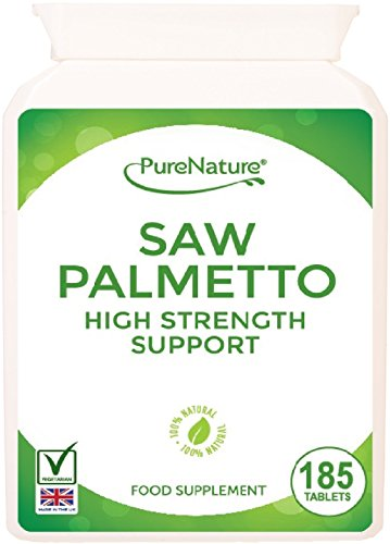 185 Saw Palmetto 3000mg High Strength Superior Grade Tablets – Full 6 Month Supply-100% Quality Assured Money Back Guarantee-FREE UK DELIVERY Test