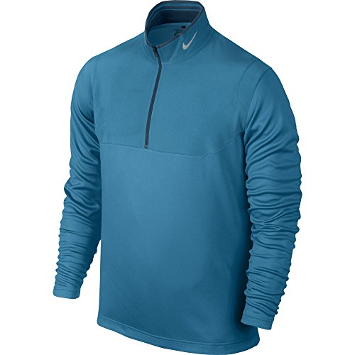 2015 Nike Dri-Fit Half-Zip Pullover Mens Golf Cover-Up Light Blue Lacquer XXL (Nike Up Golf Cover)
