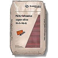 Nitrofoska Super Olivo 20-5-10. 25 Kilos. Abono Complejo Que aporta