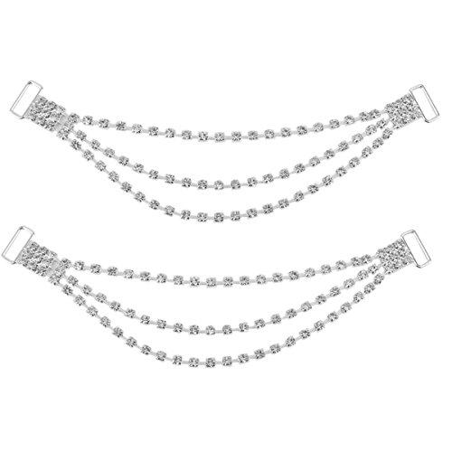 Bikini Perlen (WINOMO Strass Bikini Steckverbinder Schnallen Verzierungen ein)