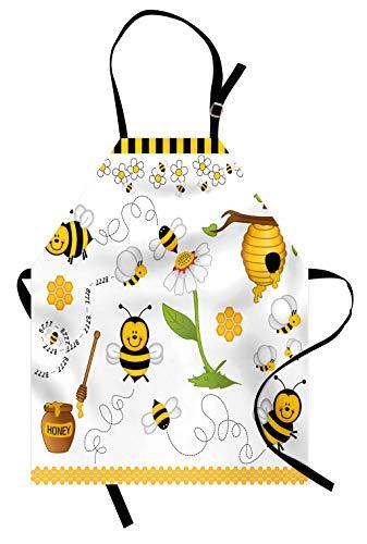 Abakuhaus, Collage Kochschürtze, Digitaldruck Technologie Wasserdicht Schmutzabweichent, Honig -