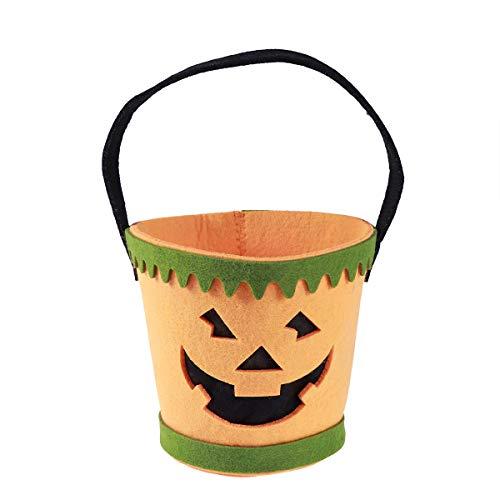 Healifty Kürbis-Süßes sonst gibt's Saures Tasche Traditionelle Halloween-Süßigkeits-Tasche für Kinderkinder Spaß-Halloween