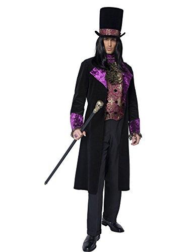 Costume carnevale adulto conte gotico fine 800 -m *