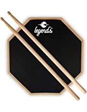 LEGEND'S Double Sided Drum Practice Pad (12-inches)