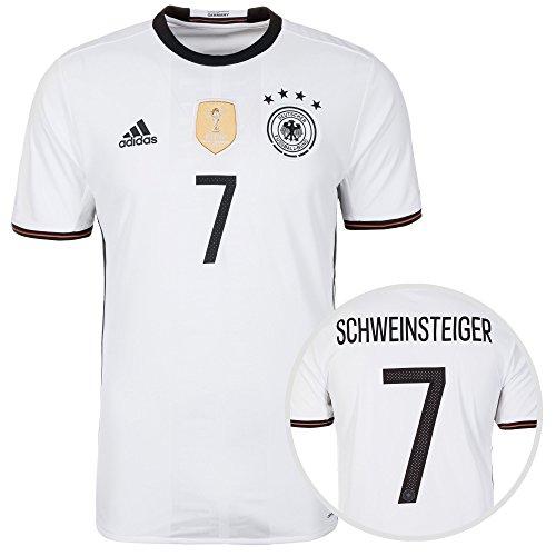 adidas DFB Trikot Home EM 2016 mit Spielername und Nummer Bastian Schweinsteiger, M - 50