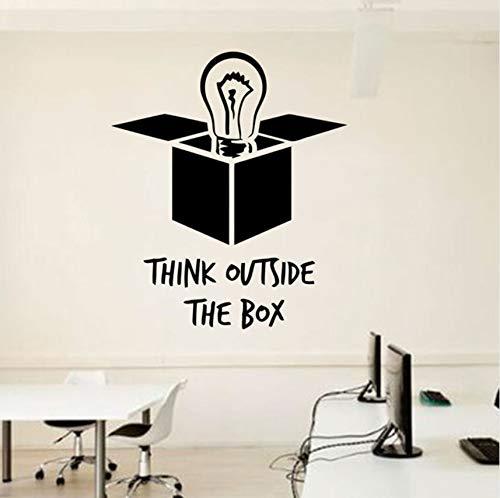 Lvabc Idee Büro Wall Decal Zitate Glühbirne Außerhalb Der Box Vinyl Aufkleber Inspirierende Zitate Wandbilder Poster Diy 57X48Cm