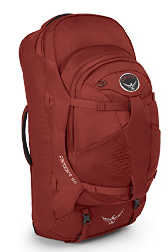 Osprey - Farpoint 55, color jasper red, talla 55 Liters-M/L