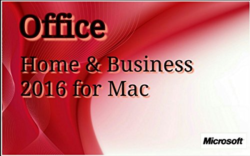 Microsoft Office Home and Business 2016 für 1 MAC - Lizenz, Deutsch - Kein Abo