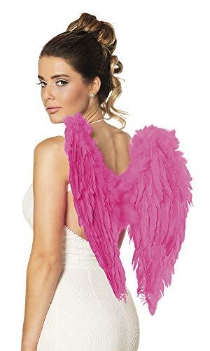 Angel Kostüm Hot - Unbekannt Sexy Weihnachten Engel Kostüm Set - Christmas Angel Costume Set - vertrieb durch ABAV (Hot Pink Flügel 52823)