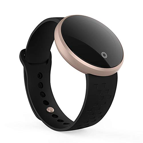 B36 Fitness-Tracker für Frauen, Android/iOS, wasserdichte Smartwatch, verstellbares Armband, Touchscreen, Bluetooth, Outdoor-Schrittzähler, Blutdruck, Herzfrequenz Free Size Schwarz