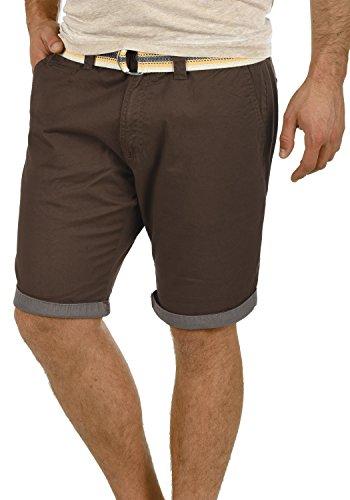 !Solid Lagos Herren Chino Shorts Bermuda Kurze Hose Mit Gürtel Aus Stretch-Material Regular Fit, Größe:L, Farbe:Coffee Bean (5973)