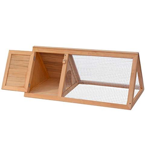 Vidaxl gabbia per conigli roditori animali piccoli da esterno in legno di abete