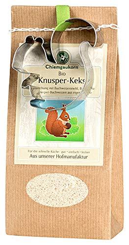 Chiemgaukorn Bio Chiemgauer Knusper-Keks, Backmischung mit Keks-Ausstecher -