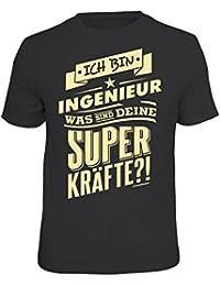 T-Shirt Ich bin Ingenieur Superkräfte schwarz