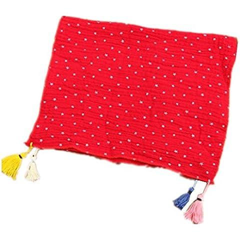 Wild style sciarpa con frange di cotone bambini primavera e autunno alla moda , big red