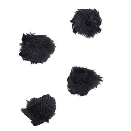 Kunstfell Pom Pom Haar Clip Set (4Stück) ()