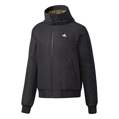 adidas Herren Hooded 3-Streifen Bomberjacke Jacke, Black/White, 3XL