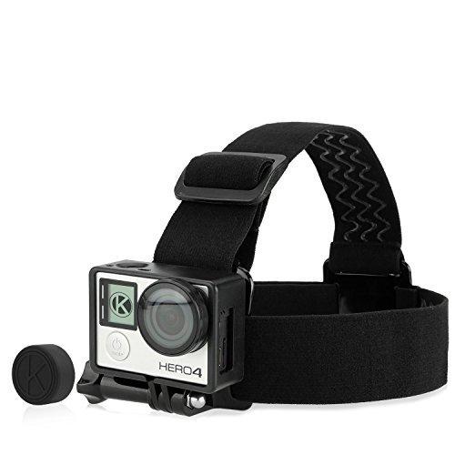 camkix-head-strap-frame-mount-bundle-for-gopro-hero-4-black-silver-3-3-comfortable-optimal-sound-cap
