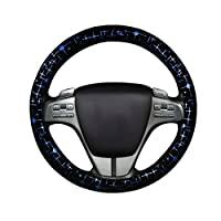 YuanYu Steering Wheel Cover -15 Inch Four Seasons Universal Handle, Star Shiny Interior Decoration Accessories Non-slip Sweat (3 Colors) Car accessories (Color : C, Size : 38cm/14.96inch)