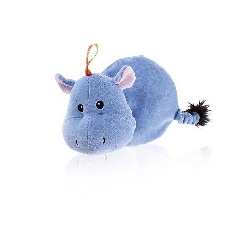 Fashy 6350 Numa Coussin Chauffant à Graine Motif Enfant Hippo Bleu 22 cm