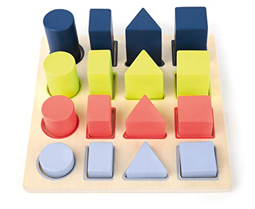 small foot company Puzzle of Geometric Figures to Thread Toys, (Small Foot by Legler 11100)