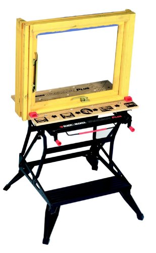 Black+Decker flexible Werkbank WM825 mit großer Arbeitsfläche / Exaktes Arbeiten dank Gradeinteilung und Orientierungslinien / Bis 250 kg belastbar / Maße (Arbeitsfläche): 74,0 x 25,0 cm - 3