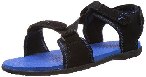 Puma Men's Woody DP Black-Brilliant Blue Sandals and Floaters - 8 UK
