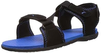 Puma Men's Woody DP Black-Brilliant Blue Athletic & Outdoor Sandals - 4 UK/India (37 EU)