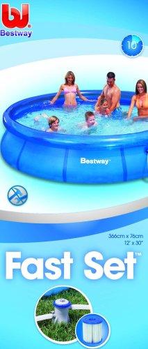 Bestway 57112 - Fast Set Pool 366 x 76 cm mit Pumpe -