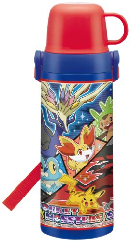2WAY inside plug stainless steel bottle 600ml Pokemon XY STG6 by SKATER