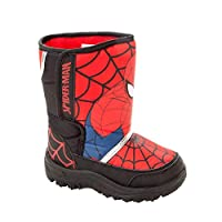 Boys Official Spiderman RED Black Warm Winter Snow Boots Shoes Kids UK Size 7-1