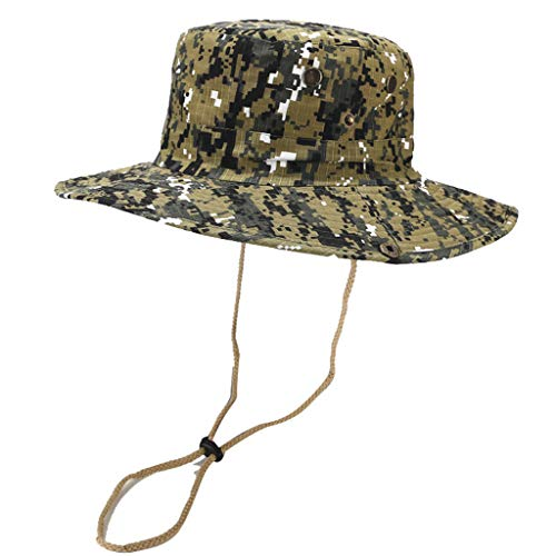 95f7a6790005 Camouflage Cowboy Hat-Natural Roll Summer Foldable Sun Visor Beach Sun Hat  UPF50+ Wide Brim
